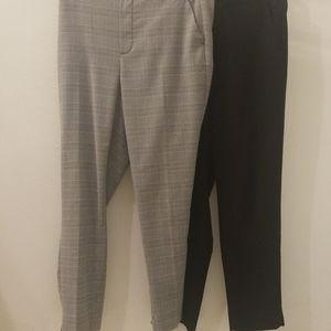 Set of Banana Republic Black & Gray Hayden Pants 8